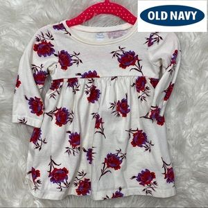 🎈Old Navy Rose Print Floral Tunic Dress 3-6 Month
